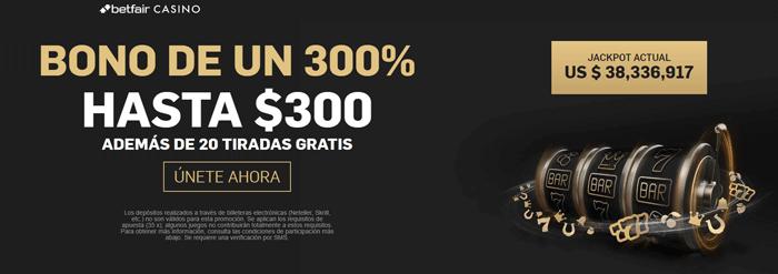 Betfair Mexico Casino Online Bono Bienvenida Jackpot