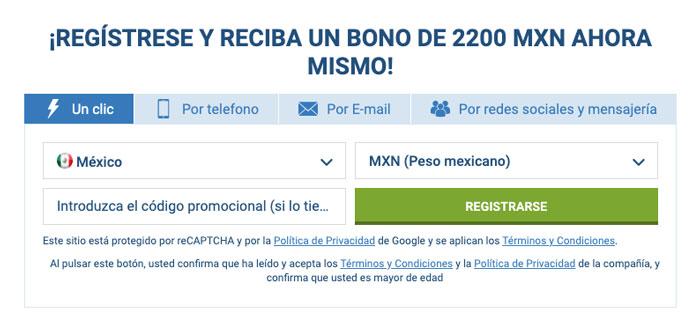 Apuestas 1xbet Bono Registro