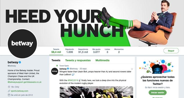 Apuestas Betway Mexico Bono Redes Sociales Twitter