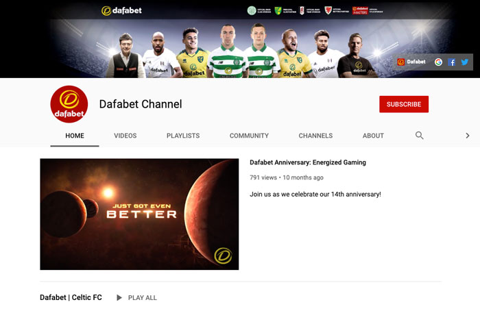 YouTube Dafabet México redes sociales