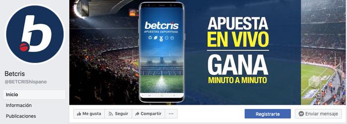 Facebook Betcris México redes sociales