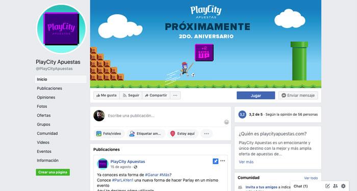Facebook PlayCity México redes sociales