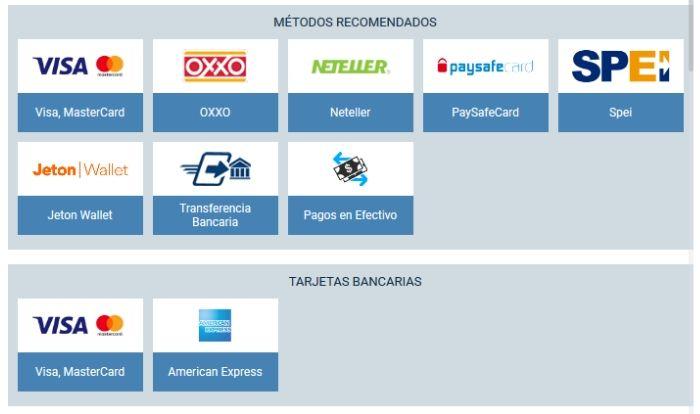 Apuestas 1xbet Mexico Bono Metodos de Pago