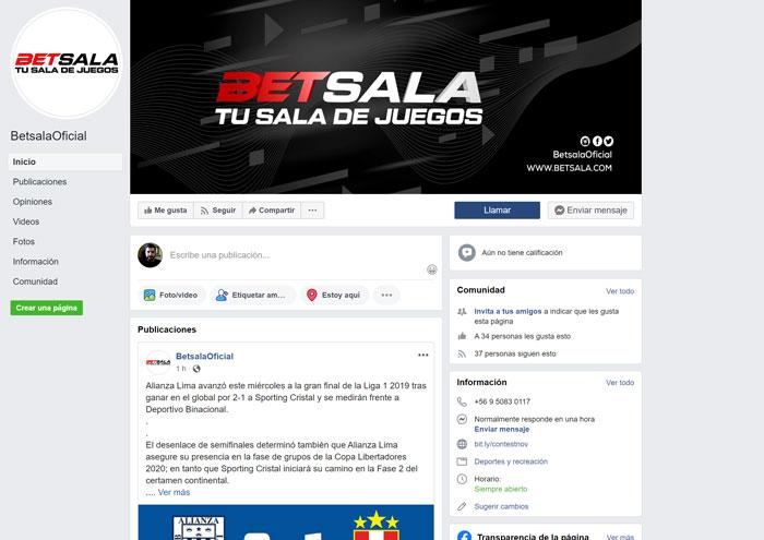 Apuestas Betsala Mexico Bono Facebook