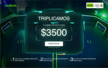Apuestas Codere Mexico Bono Bienvenida Deportivas