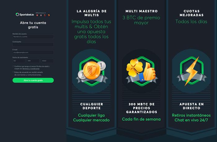 Apuestas Sportsbet.io México Bono Bienvenida