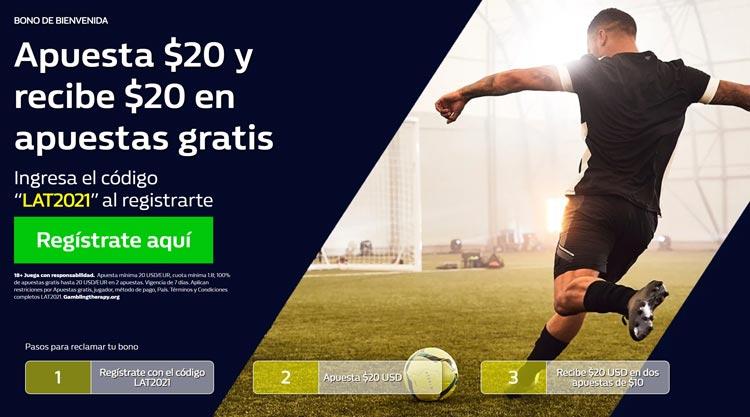 Bono de Bienvenida Apuestas Deportivas William Hill México Latam