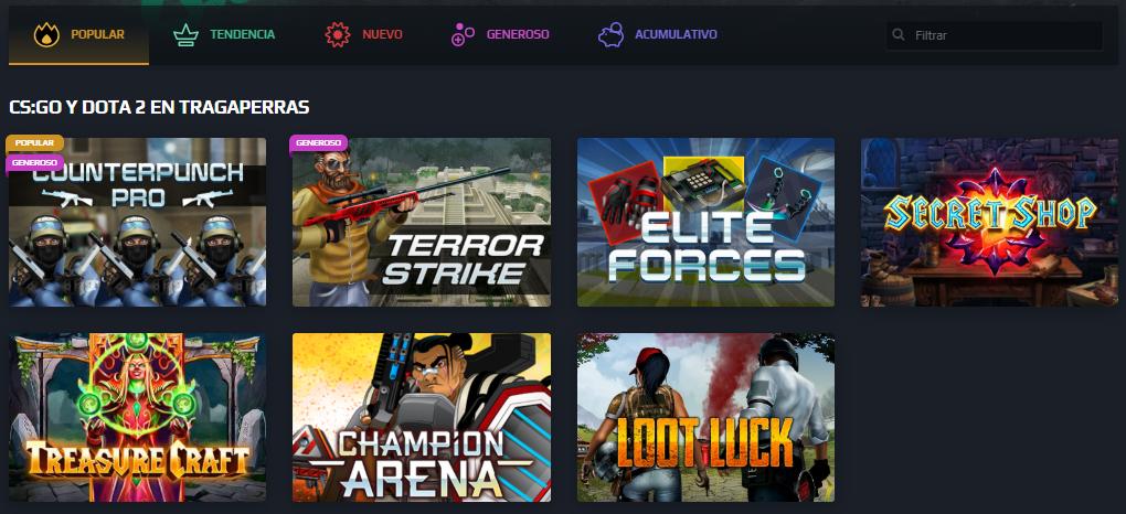 casino online de Loot.bet México videojuegos cs go