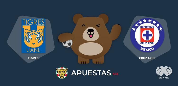Pronostico Tigres Cruz Azul Liga MX 17-10-2020