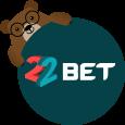 22Bet México logo verde oso