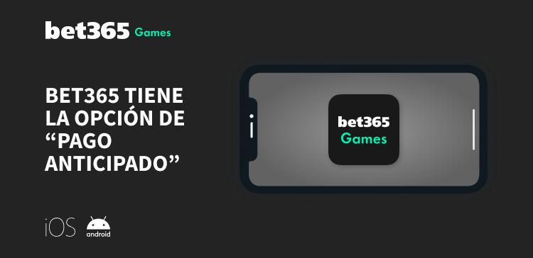 Pago anticipado con bet365 México celular gris
