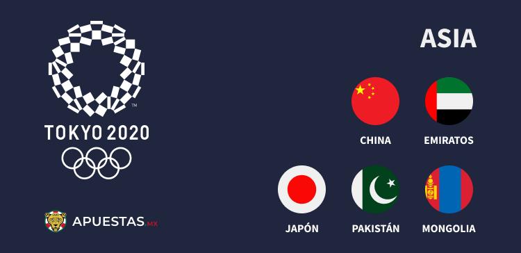 Los países de Asia que van a Juegos Olímpicos 2020